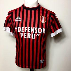 Lomas Defensor  Peru soccer jersey stripe Mirtha